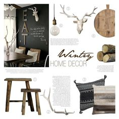"""""""Wintry Home Decor"""" by c-silla ❤ liked on Polyvore featuring interior, interiors, interior design, home, home decor, interior decorating, Lazy Susan and Dot & Bo"""