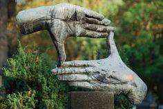 hands, statue, nature, gesture, art