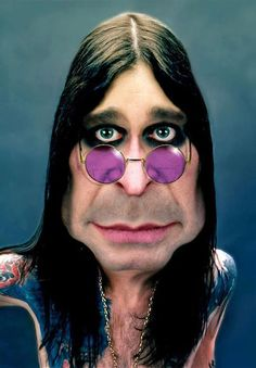 Ozzy Osbourne - Celebrity caricatures by Rodney Pike Funny Caricatures, Celebrity Caricatures, Celebrity Portraits, Celebrity Faces, Celebrity Drawings, Cartoon Faces, Funny Faces, Cartoon Art, Heavy Metal Fashion
