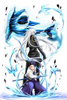 Superbi Squalo and Yamamoto Takeshi from Katekyo Hitman Reborn