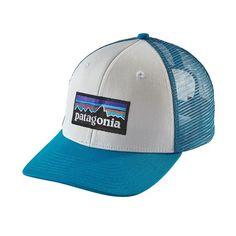 P-6 Logo Trucker Hat, White w/Grecian Blue (WHGR)