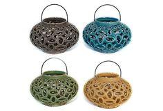 4 Asst. Pierced Lanterns