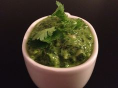 Recipe: Simple, easy, delicious. Cilantro Spinach Pesto. Use on everything and anything!
