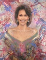 MICHELLE OBAMA by Urbano Galindo/ I feel that we've had enough matronly first ladies. (Bush Mother in Law and Daughter in law.) Michelle Obama is A breath of fresh air. Joe Biden, Durham, Obama Art, Barak And Michelle Obama, Divas, Barack Obama Family, Malia Obama, Presidente Obama, Michelle Obama Fashion