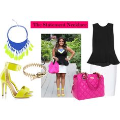 """""""The statement necklace"""" by thestylejunkies on Polyvore"""