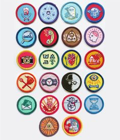 Image of Alternative Scouting Merit Badges - FULL SET OF 22