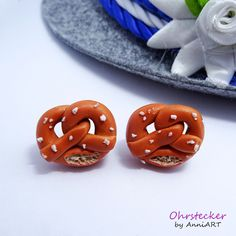 Ohrringe für das Oktoberfest, Brezel mit Salz / earrings for Oktoberfest, pretzl with salt by AnniART via DaWanda.com
