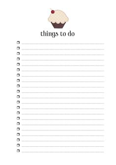 Occupation: Mum.: Free Printable (A5) - Things To Do Checklist