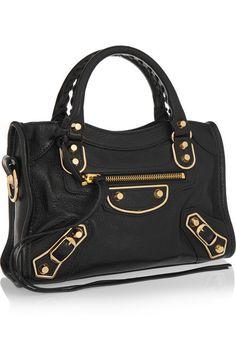 Balenciaga   Classic Metallic Edge City mini textured-leather shoulder bag   NET-A-PORTER.COM