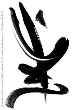 Gouache, Calligraphie, Roger Excoffon