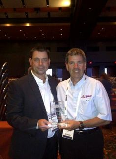 Honoured & thrilled to have been awarded the Best Restoration Contractor Eastern Canada award at the recent Contractor Connection Conference in Texas! Seen here is our owner and President, Mike Foley, with Daniel Loosemore from Contractor Connection Canada Conference, Presidents, Connection, Restoration, Awards, Texas, Canada, In This Moment