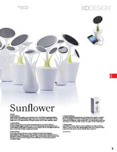 The Sunflower solar charger by XD Collection