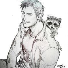 Guardians of the Galaxy Fan Art Sketch / Drawing - #guardiansofthegalaxy #marvelcinematicuniverse #kurttasche