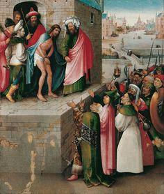 Hieronymus Bosch, Ecce Homo, hacia 1476 o posterior. Óleo sobre tabla de roble, 75x61cm. Fráncfort, Städel Museum.