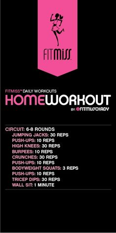 home workout from FitMiss/Chady Dunmore #totalbodytransformation
