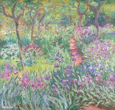 The Iris Garden at Giverny - Claude Monet; my favorite Monet painting. Kandinsky, Claude Monet, Monet Paintings, Landscape Paintings, Landscapes, French Paintings, Flower Paintings, Renoir, Artist Monet