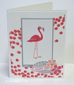 Fun Flamingo Lingo Happy Day Stampin' Up All Occasion Card | eBay