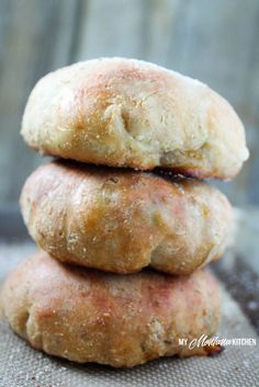Low Carb Cheeseburger Buns (Gluten Free, THM-S)