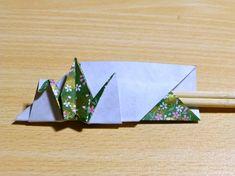 【折り紙】鶴の箸入れの折り方・お正月を豪華に - YouTube もっと見る