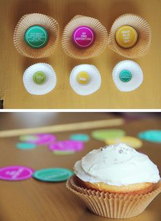 Cupcakes with surprise messages