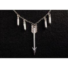 Werewolf Hunter Necklace - Silver Bullets & Arrow - Teen Wolf Inspired (€18) ❤ liked on Polyvore featuring jewelry, necklaces, accessories, teen wolf, bullet necklace, silver wolf pendant, bullet pendant necklace, wolf necklace and long necklace