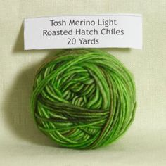 Madelinetosh Tosh Merino Light Samples Yarn - '15 August - Roasted Hatch Chiles