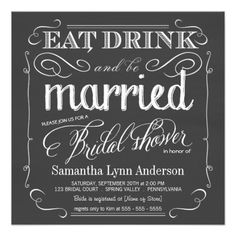=>quality product          	Eat Drink be Married Bridal Shower Invitations           	Eat Drink be Married Bridal Shower Invitations We have the best promotion for you and if you are interested in the related item or need more information reviews from the x customer who are own of them before pl...Cleck See More >>> http://www.zazzle.com/eat_drink_be_married_bridal_shower_invitations-161917283332172097?rf=238627982471231924&zbar=1&tc=terrest