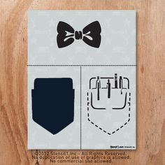 Nerds rule! Add a bow tie to a t-shirt for a dressy event or nerd out with the 2 layer pocket protector! Stenils by @Ed Roth / Stencil1