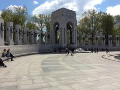 Nice view of the Pacific side of the new WWII Memorial