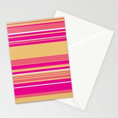 Complex Stripes - Hot Pink Stationery Cards by laec | Society6 Pink Cards, Fold Envelope, Folded Cards, Card Stock, Hot Pink, Stationery, Gift Wrapping, Stripes, Gifts