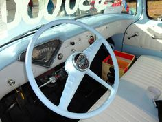 1956 Chevrolet 3200 Pickup Truck Interior by Custom_Cab, via Flickr