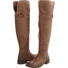 Frye, Shirley Over-The-Knee Riding in Dark Brown Waxy Suede