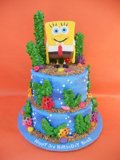 spongebob cake | SpongeBob Birthday Cake | Flickr - Photo Sharing!