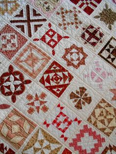 close up, Dear Jane quilt by Ingrid van der Harst-Govers (The Netherlands)