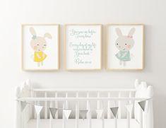 Kids Bible Verse Nursery Wall Art Cute Animals Characters | Etsy