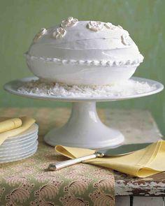 Coconut-Almond Egg-Shaped Cake Recipe
