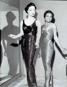 This iconic image of the one and only Eartha Kitt appears in my book Vintage Black Glamour. It was taken by Moneta Sleet, Jr., the Pulitzer Prize-winning Ebony photographer, in 1956 at the opening of Roxanne's Dressmakng Shop in New York City, co-owned by Ms. Kitt.