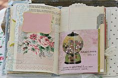 You don't need to be artistically inclined to art journal. Collect bits and pieces that appeal to you; an old greeting card, a snippet from a magazine, ticket stubs, various ephemera. The point is to use what speaks to you.
