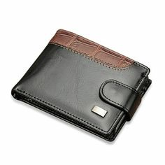 Baellerry Vintage Leather Hasp Small Wallet Men Coin Pocket Purse Card Holder Men's Wallets Money Cartera Bag Male Clutch Cowhide Leather, Leather Men, Leather Fashion, Men Fashion, Vintage Leather, Vintage Men, Wallets For Boys, Man Purse, Brown Wallet
