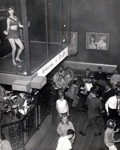 Revellers having a good time at the Whisky A Go-Go!   Old school!