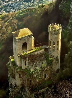 Erice by alberto.donda -  The Norman Castle of Erice, Sicily, Italy, sits where the ancient temple shrine of Venus (worshiped by the Romans) once stood, which is why it is often called Venus Castle. Viking descendants, the Normans, took Sicily and built Erice Castle in the 12th century. The Balio Towers were built as a defence and were originally connected to the castle by a drawbridge rather than the steps seen today.