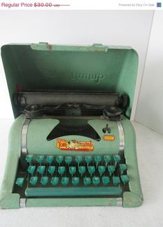 SUPER SALE Tom Thumb Typewriter Vintage Toy Child's by HobbitHouse