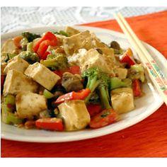 Tofu com vegetais ao molho