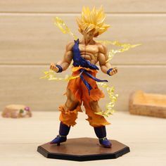 Find More Action & Toy Figures Information about New Arrival Japanese Anime Cartoon DragonBall Z Action figure Super Saiyan Son Goku Action Figuras Gifts,High Quality anime sale,China anime guitar Suppliers, Cheap anime sweater from LOL Toy Space on Aliexpress.com