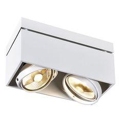 SLV Kardamod Double ES111 WIT plafondlamp bestelt u simpel online. Bekijk deze plafondlamp en de ander KARDAMOD plafondlampen op Lichtdiscounter.nl