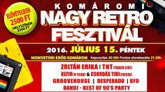 A szervezők szeretettel várnak minden érdeklődőt az idei nyár egyik legnagyobb komáromi fesztiválj...