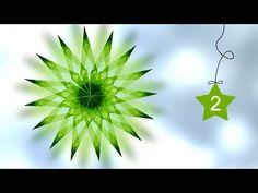 2 | Fensterstern aus Transparentpapier falten - YouTube Origami Paper Folding, Origami And Kirigami, Fabric Origami, Origami Stars, Origami Easy, Christmas Deco, Handmade Christmas, Christmas Crafts, Paper Snowflake Patterns