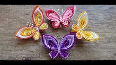 Diy Ribbon Flowers, Floral Ribbon, Ribbon Art, Ribbon Crafts, Fabric Flowers, Diy Butterfly Decorations, Ribbon Decorations, Handmade Decorations, Kanzashi Tutorial