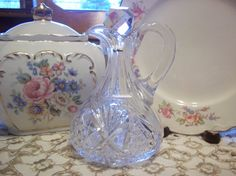 Antique  J Hoare Co Crystal Cruet   American by TheLittleNookShop