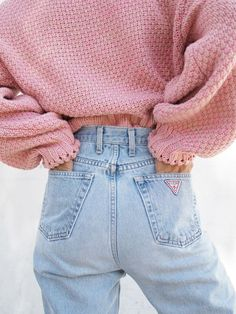 High Waisted Guess Denim SCREAMS 1990s. | @andwhatelse